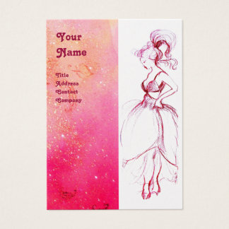 BEAUTY FASHION ,red pink,fuchsia white pearl Business Card