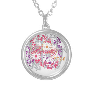 Beauty For Ashes Round Pendant Necklace