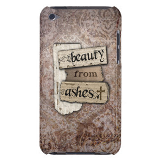 Beauty From Ashes Christian Damask Scrap Barely There iPod Cases