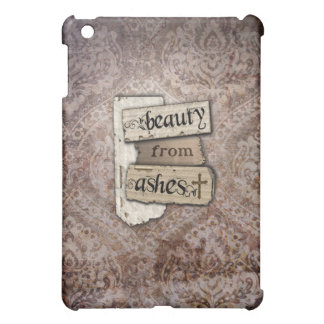 Beauty From Ashes Christian Damask Scrapboook Look iPad Mini Cover