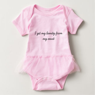 Beauty from my aunt baby bodysuit