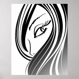 Beauty girl face poster