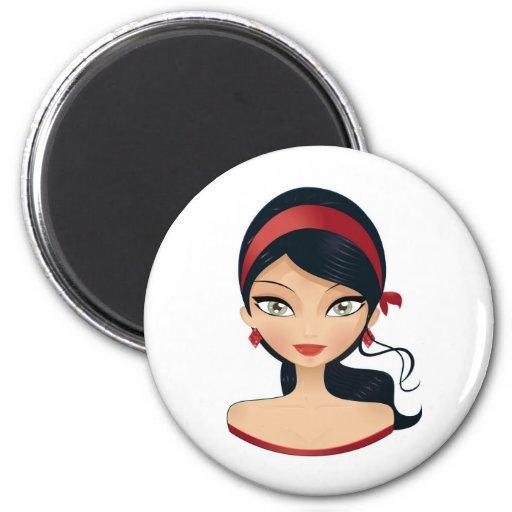 Beauty Girl Fridge Magnets