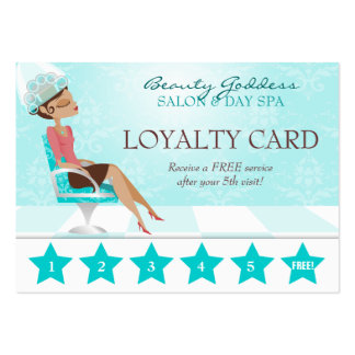 Beauty Goddess Loyalty Card Pack Of Chubby Business Cards