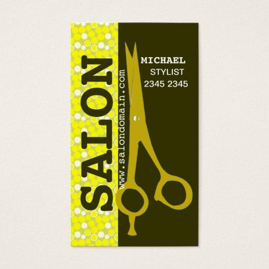 Beauty Hair Salon Professional Hair Stylist Sheers Business Card