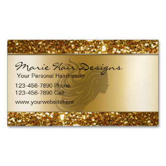 Beauty Hairdresser Business Card Magnets Magnetic Business Cards