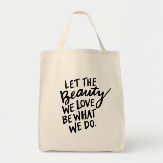 """Beauty"" Hand Lettered Inspirational Tote"