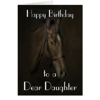 'BEAUTY' HORSE DAUGHTER GREETING CARD