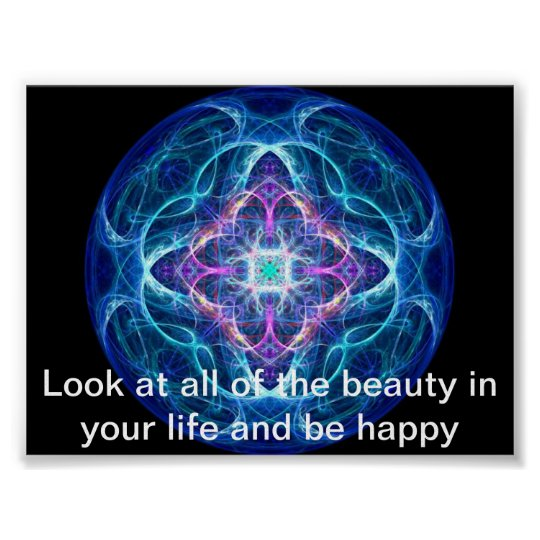 BEAUTY IN LIFE PSYCHEDELIC POSTER
