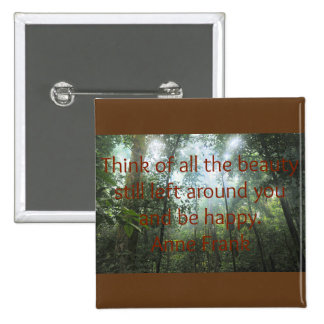 Beauty in Nature 15 Cm Square Badge