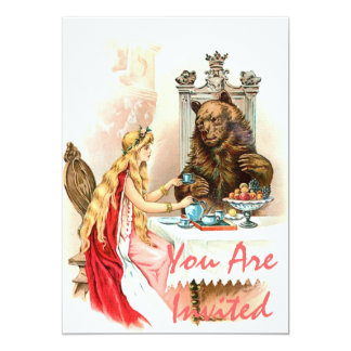 Beauty In Pink And The Beast 13 Cm X 18 Cm Invitation Card