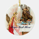 Beauty In Pink And The Beast Round Ceramic Decoration