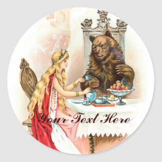 Beauty In Pink And The Beast Round Sticker