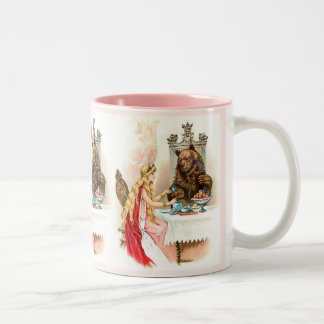 Beauty In Pink And The Beast Two-Tone Coffee Mug