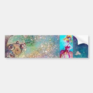 BEAUTY IN PINK DRESS / Magic Butterfly Plant Bumper Sticker