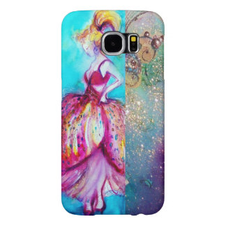 BEAUTY IN PINK DRESS / Magic Butterfly Plant Samsung Galaxy S6 Cases