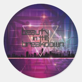Beauty In The Breakdown - CityScape Sticker