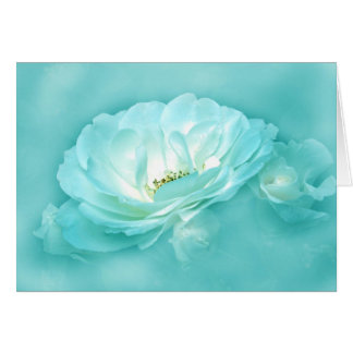 BEAUTY IN THE MIST - BLUE GREETING CARD