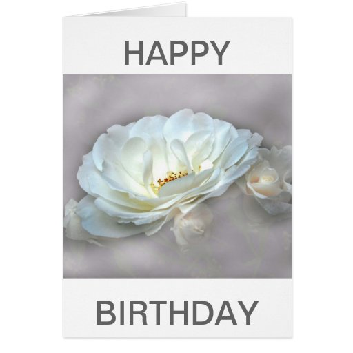 beauty in the mist - silver - brithday card