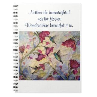 Beauty Inspiration Hummingbird Art Spiral Notebook