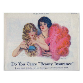 Beauty Insurance Advertisement Poster