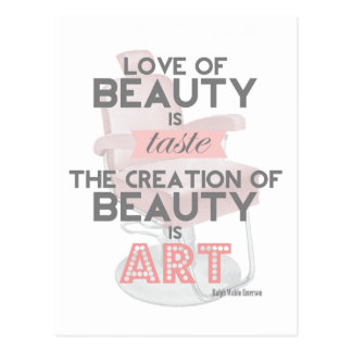 Beauty is Art Hair Stylist Salon Postcard