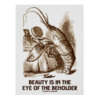 Beauty Is In The Eye Of The Beholder Wonderland Poster