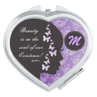 Beauty is in the Soul Monogrammed Compact Mirror