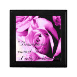 """Beauty is not caused.  It is."" Small Square Gift Box"