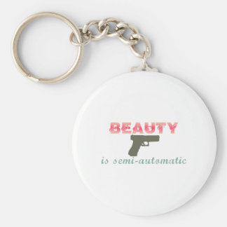 Beauty is semi-automatic keychains