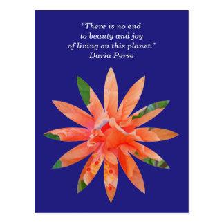 """Beauty & Joy of Living"" inspirational postcard"