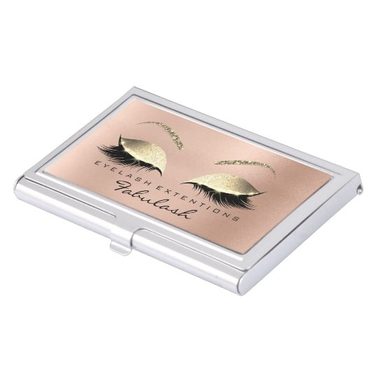 Beauty Lashes Makeup Stylist Rose Gold Pink Skinny