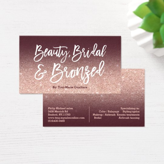 Beauty logo chic typography burgundy rose gold business