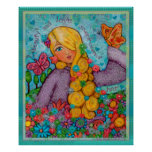 Beauty & Love Blonde Angelic Lady Art Poster