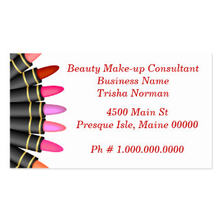 Beauty Make-up Consultant Business Card Templates