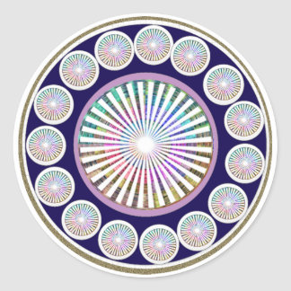 Beauty Mantra - ART101 Chakra Collection Round Sticker