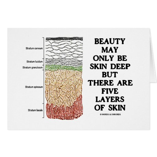 Beauty May Be Skin Deep But Five Layers Of Skin Greeting Card
