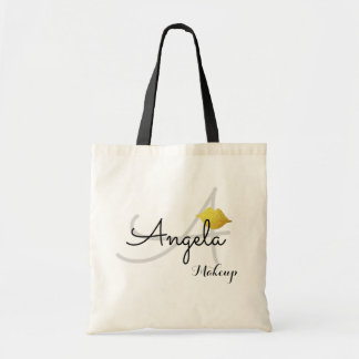 beauty monogram tote bag for makeup artists
