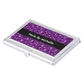 Beauty Nails Glitzy Case For Business Cards