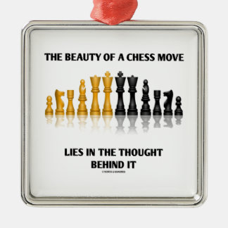 Beauty Of A Chess Move Lies In Thought Behind It Christmas Ornament