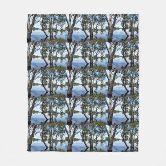Beauty Of A Gum Tree Medium Fleece Blanket.