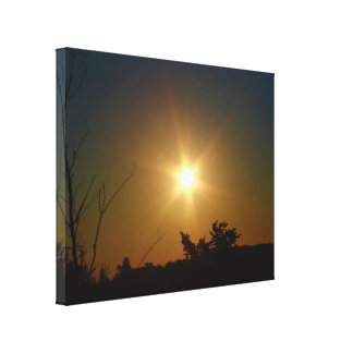 Beauty Of A Sun Risen Stretched Canvas Print