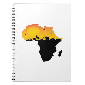 BEAUTY OF AFRICA SPIRAL NOTE BOOK