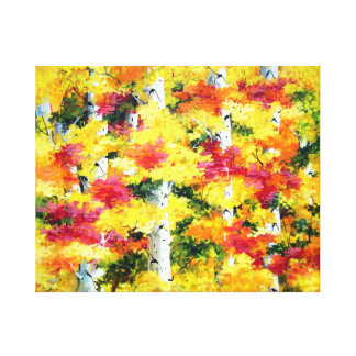 BEAUTY OF AUTUMN FOREST-ACRYLIC PAINTING CANVAS PRINT
