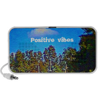 Beauty of nature'n positive vibes mini speakers