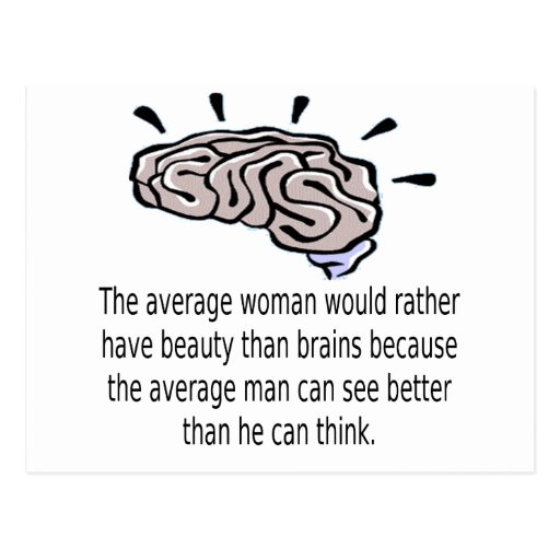 Beauty Over Brains Post Card
