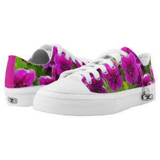 Beauty purple flowers low tops