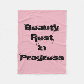 'Beauty Rest in Progress' blanket