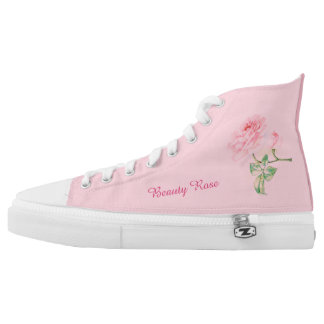 Beauty Rose HighTop Sneaker Printed Shoes