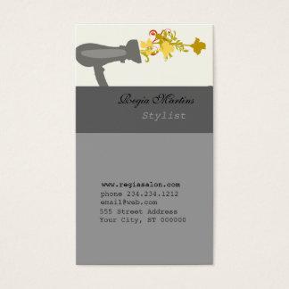 Beauty Roses Blow Dryer Gun Business Card